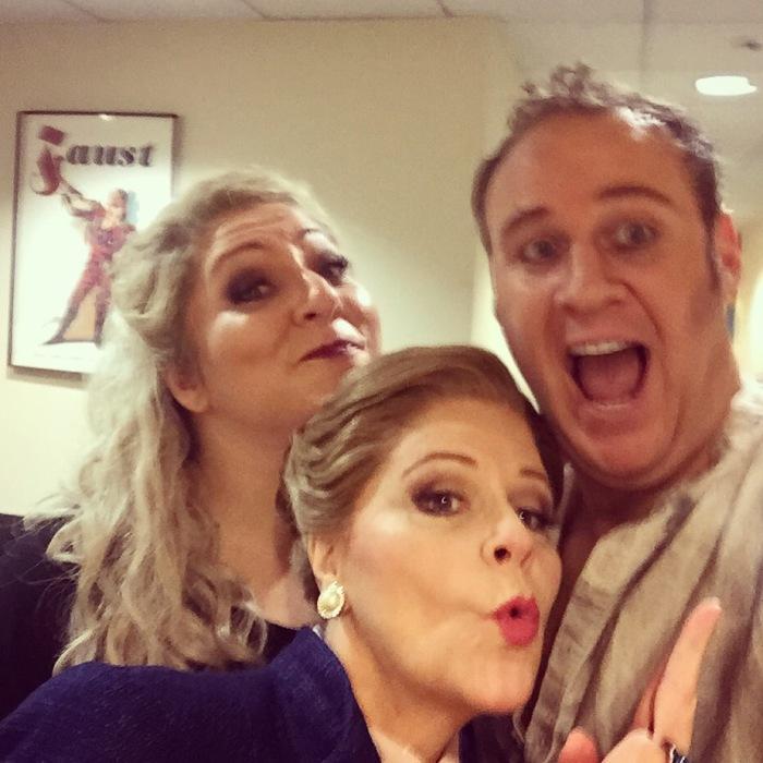 With Christine Goerke, soprano, and Susan Graham, mezzo-soprano at the Lyric Opera of Chicago, 2016