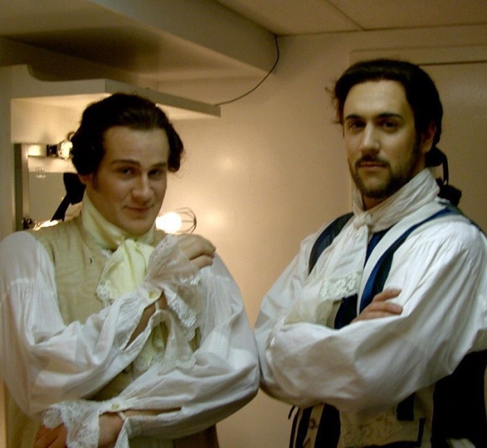 Backstage during Yale Opera's production of Le nozze di Figaro with Christian Van Horn, 2003